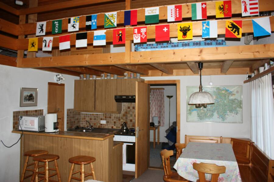 swiss chalet canton flags